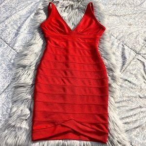 Miusol Red Bodycon Dress
